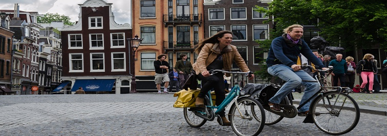 Bike city in Amsterdam